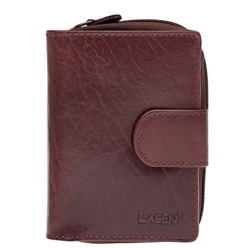 Lagen Dámská kožená peněženka Wine Red 2002