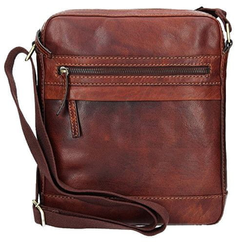 Lagen Kožená hnědá taška přes rameno LN-22013 TAN