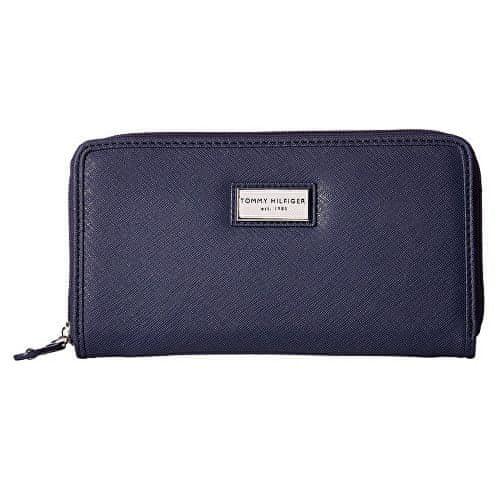 Tommy Hilfiger Modrá dámská peněženka Womens Core Wallets Zip Around Wallet Blue