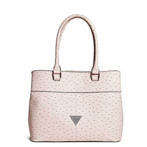 Guess Kabelka Stanwood Ostrich-Embossed Satchel Pink
