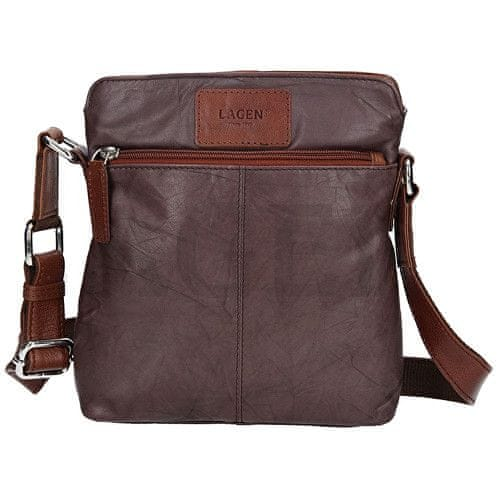 Lagen Kožená hnědá taška přes rameno CB-005 Brown