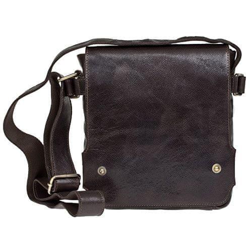 Lagen Kožená hnědá taška přes rameno 3008/C Brown
