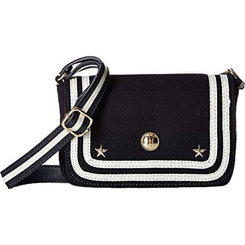 Tommy Hilfiger Kabelka Ava Wool Flap Crossbody Navy