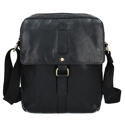 Lagen Kožená černá taška přes rameno LN-22010 Black