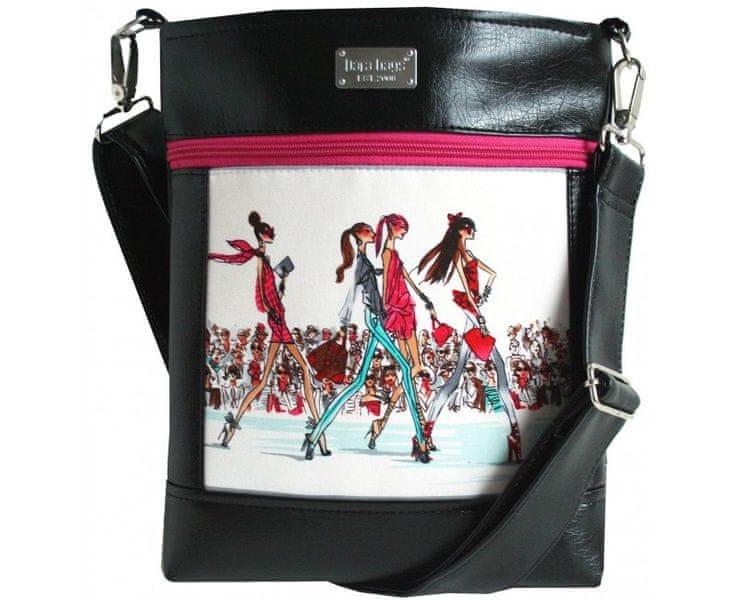 Dara bags Crossbody kabelka Puzzle Ruby No. 50 I Love Paris
