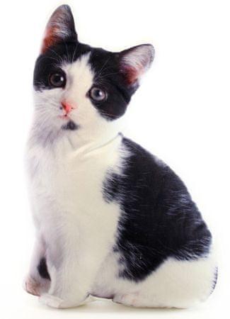 Lamps Polštářek 36 x 22 cm černobílé kotě