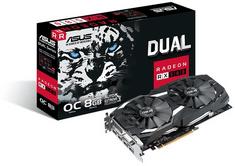 Asus grafična kartica Dual Radeon RX 580 OC, 8GB GDDR5