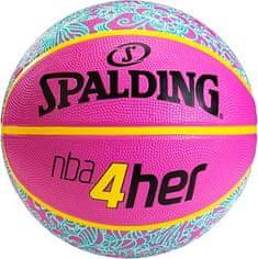 Spalding košarkarska žoga 4HER, guma, št. 6