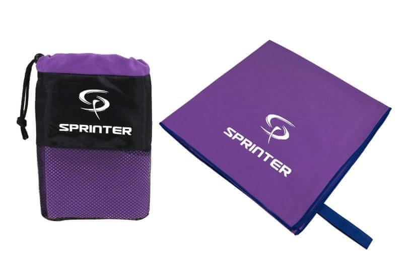 Sprinter Ručník z mikrovlákna 100x160 cm fialový