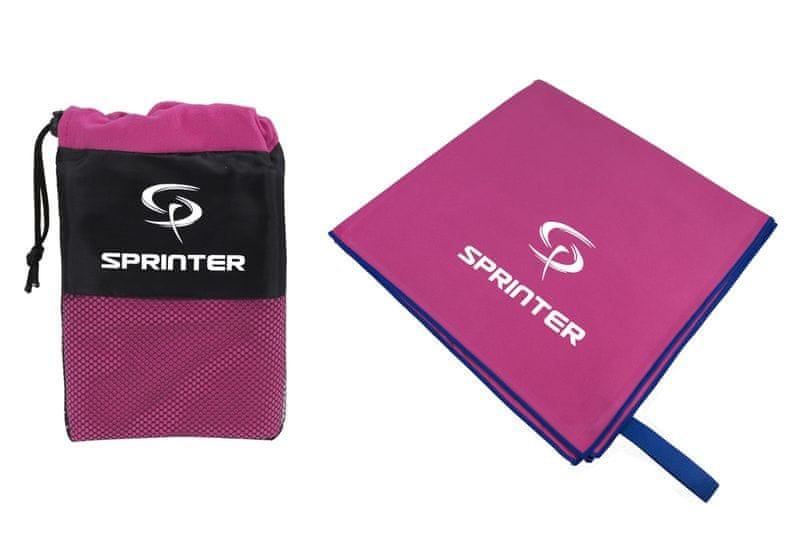 Sprinter Ručník z mikrovlákna 100x160 cm růžový