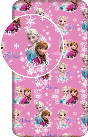 Jerry Fabrics Bavlněné prostěradlo Frozen duo sisters 90x200+25 cm