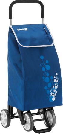 Gimi Twin kerekes bevásárlótáska 56 l, kék