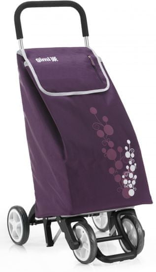 Gimi nakupovalna torba na kolesih Twin 56 l, vijolična