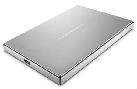 LaCie zunanji disk Porsche Design 2 TB P'9223, 2,5, USB-C 3.0, srebrn