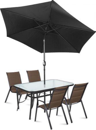 Fieldmann LINDA 4 Kerti bútor szett napernyővel