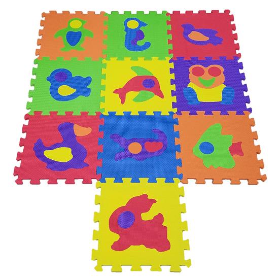 COSING Penová podložka Puzzle - Zvieratká 10 ks