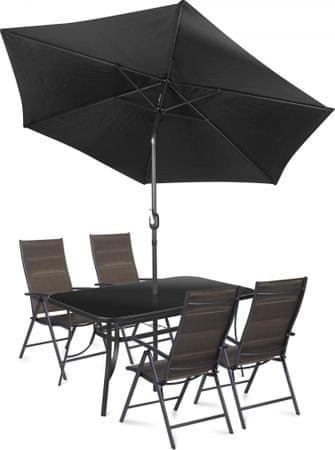 Fieldmann meble ogrodowe MELISA 4 + parasol ogrodowy