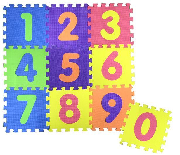 COSING Pěnová podložka Puzzle - Čísla 10 ks