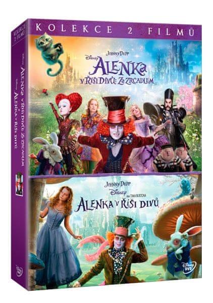 Kolekce Alenka v říši divů: Alenka v říši divů + Alenka v říši divů: Za zrcadlem (2DVD) - DVD
