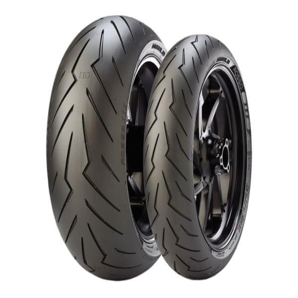 Pirelli 120/70 ZR 17 TL (58W) + 180/55 ZR 17 (73W) TL Diablo Rosso III zadní