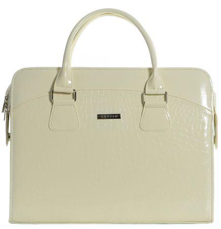 GROSSO BAG ženska ročna torbica smetane