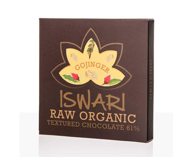 Iswari Raw čokoláda - Gojinger 75 g BIO