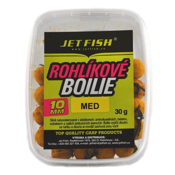 Jet Fish rohlíkové boilie 30g 10mm broskev