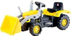 DOLU Veľký šliapací traktor s rýpadlom - žltý