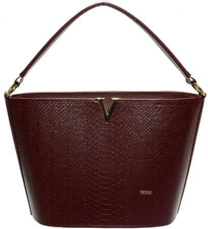 GROSSO BAG ženska ročna torbica bordo rdeča