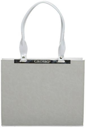 GROSSO BAG ženska ročna torbica bela
