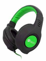C-Tech słuchawki Nemesis V2 (GHS-14G), czarno-zielone