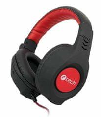 C-Tech słuchawki Nemesis V2 (GHS-14R), czarno-czerwone