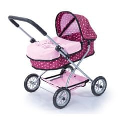 Bayer Design Ružový kočík pre bábiky so vzorkou Smarty