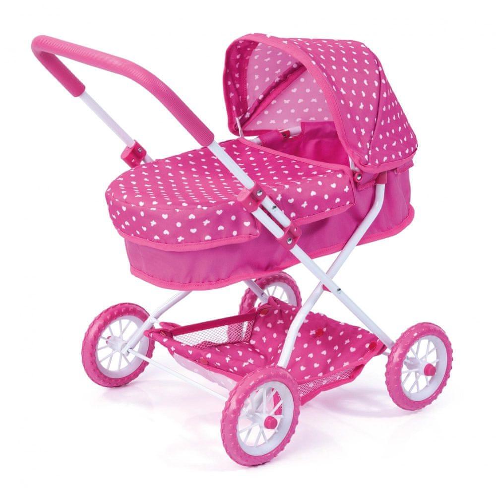 Bayer Design Růžový kočárek pro panenky Smarty