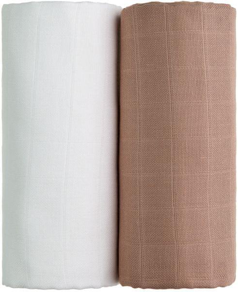 T-tomi TETRA osušky EXCLUSIVE COLLECTION 2ks, bílá + béžová