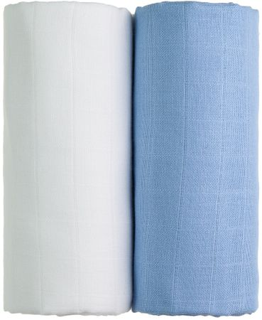 T-Tomi TETRA osušky EXCLUSIVE COLLECTION 2ks, bílá + modrá
