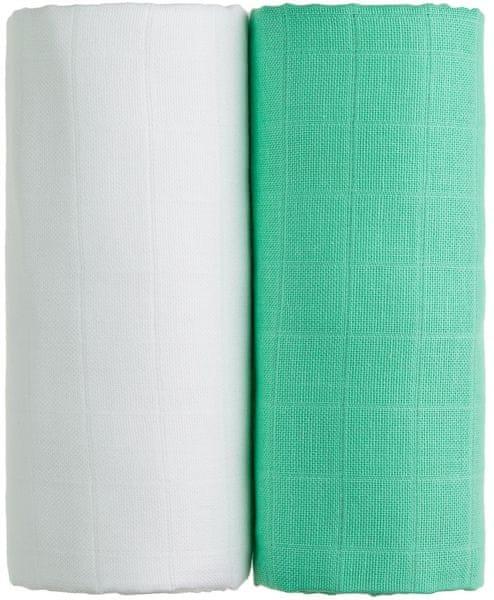 T-tomi TETRA osušky EXCLUSIVE COLLECTION 2ks, bílá + zelená