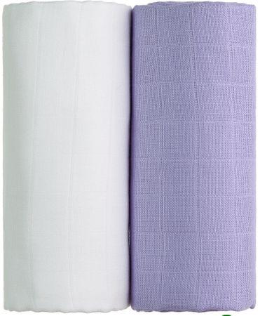 T-tomi TETRA osušky EXCLUSIVE COLLECTION 2ks, bílá + fialová