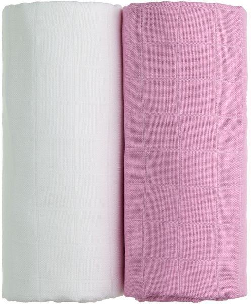 T-tomi TETRA osušky EXCLUSIVE COLLECTION 2ks, bílá + růžová