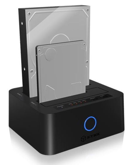 IcyBox docking & clone postaja za 2,5 in 3,5 diske IB-123CL-U3