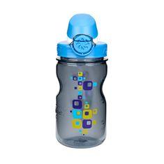 Nalgene plastenka, otroška, 0,35 l, siva s kvadratki, modri zamašek