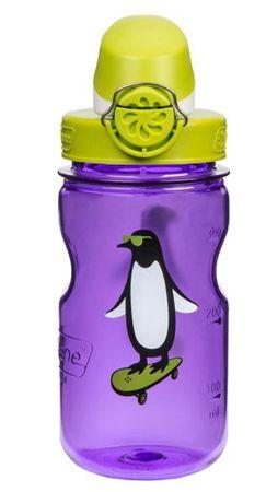 Nalgene bočica OTF, dječja, 0,35 l, ljubičasta s pingvinom