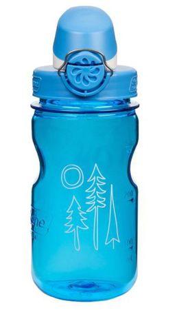 Nalgene plastenka OTF, otroška, 0,35 l, modra z motivom gozda, moder pokrovček