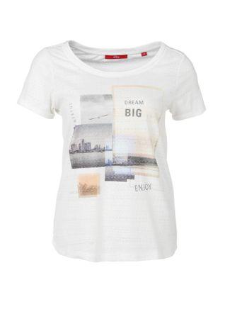 s.Oliver női póló 34 krém