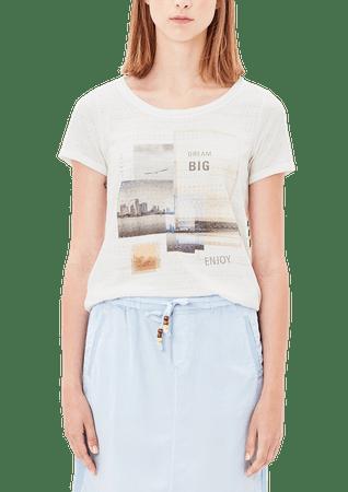 s.Oliver női póló 38 krém