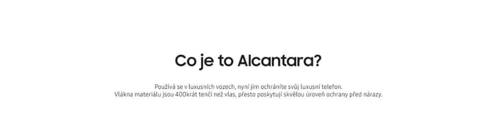 Samsung Kryt Alcantara (Samsung Galaxy S8 Plus), modrý - rozbaleno