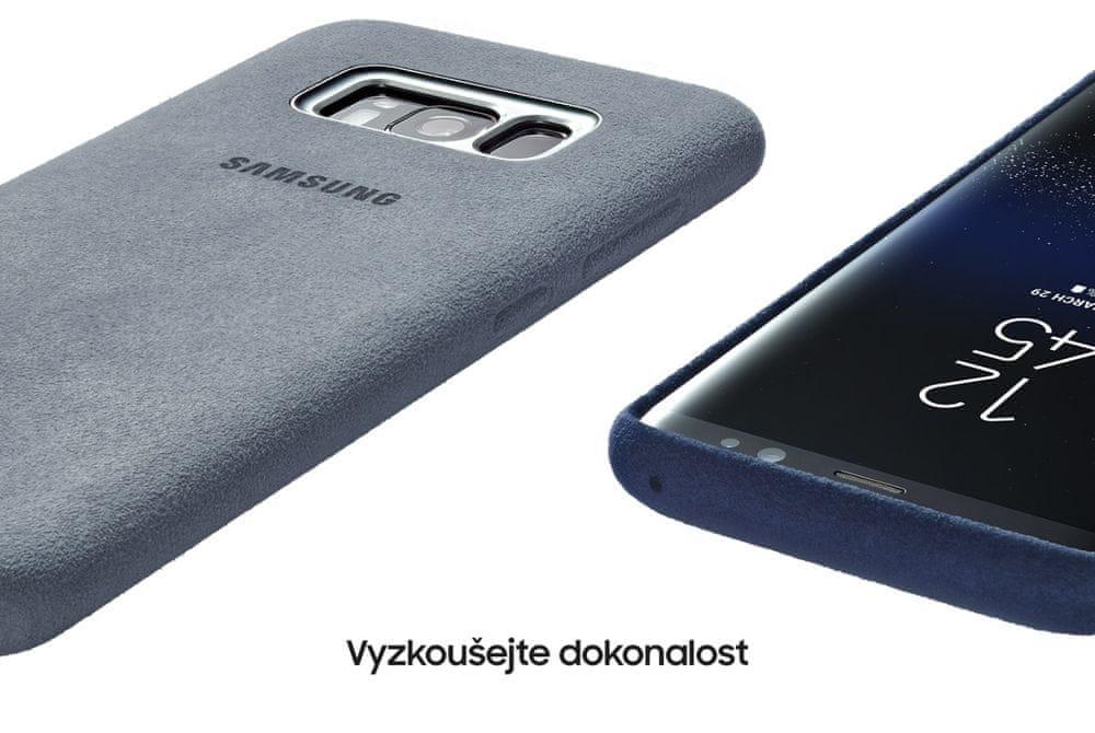 Samsung Kryt Alcantara (Samsung Galaxy S8 Plus), modrý - rozbaleno - rozbaleno
