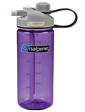 Nalgene plastenka Multidrink, 0,59 l, sivi pokrovček, vijolična