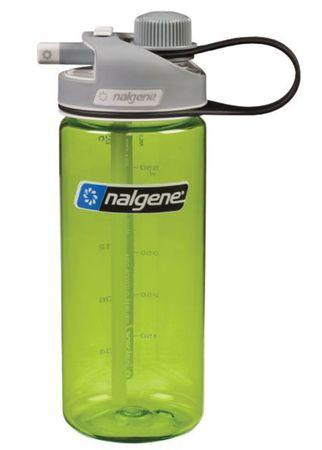 Nalgene plastenka Multidrink, 0,59 l, sivi pokrovček, zelena