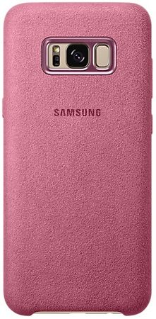 SAMSUNG Alcantara tok (Samsung Galaxy S8 Plus), rózsaszín
